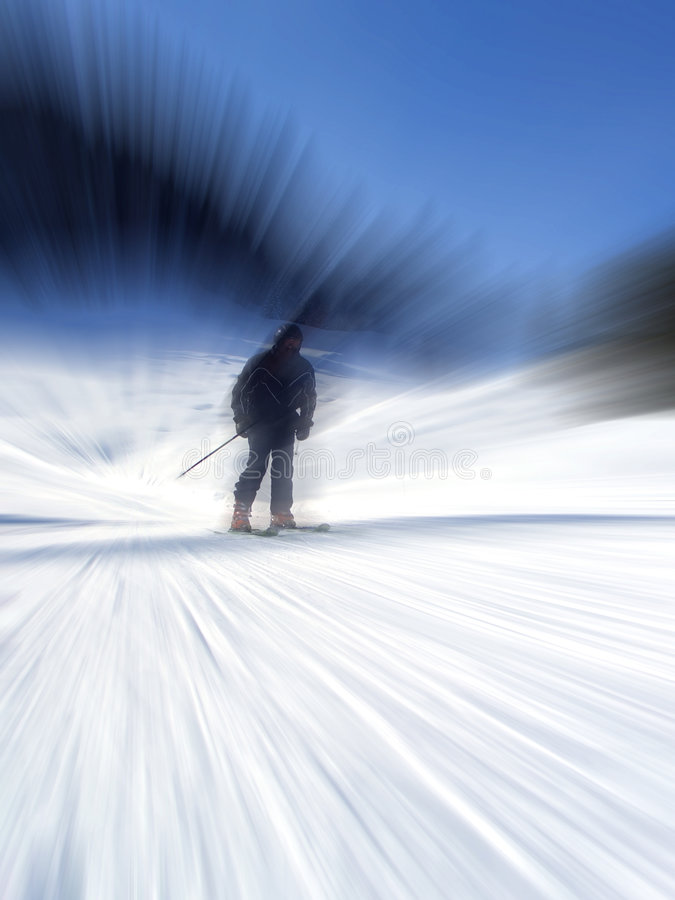 Download Skier stock image. Image of radial, slope, outdoor, cold - 8452941