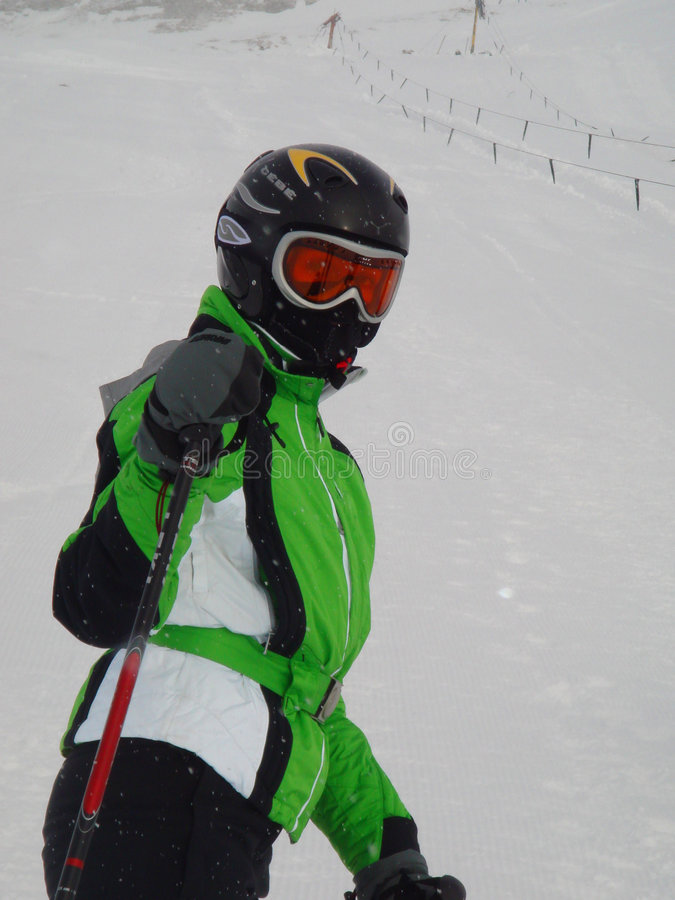 Download Skier stock photo. Image of caucasian, powdery, skiing - 8930714