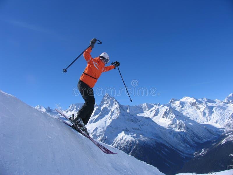 Download Skier stock image. Image of poles, powdery, skiing, single - 9161745