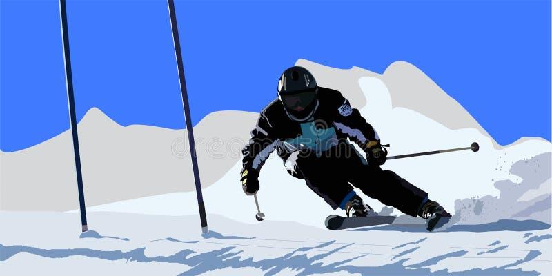Download Skier stock vector. Image of extreme, piste, skier, alpine - 9825792