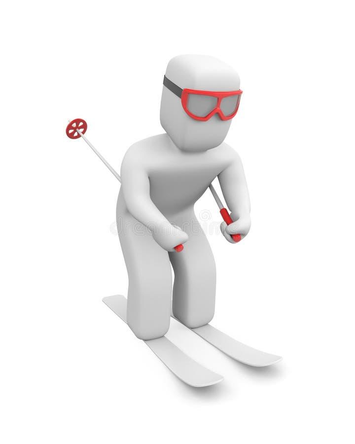 Download Skier in action stock illustration. Image of helmet, cold - 16853933