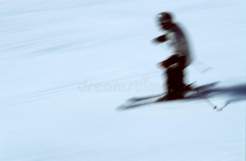 Skier In Action 2 Free Stock Photo