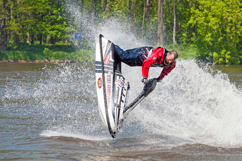 Skier in Action stock photography