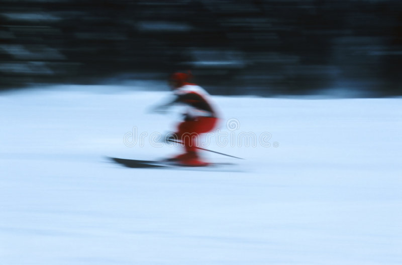 Download Skier in action 6 stock image. Image of downgrade, descent - 90691