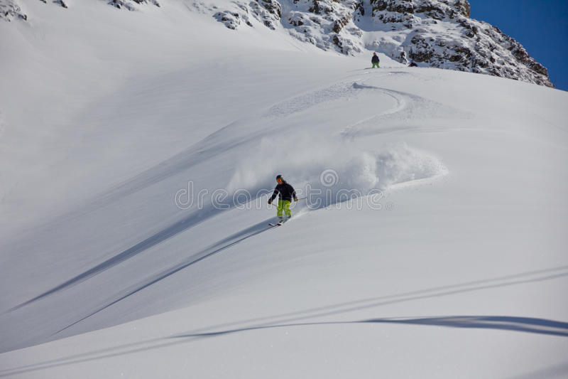 Download Skier In Deep Powder, Extreme Stock Photo - Image of piste, risk: 39510050