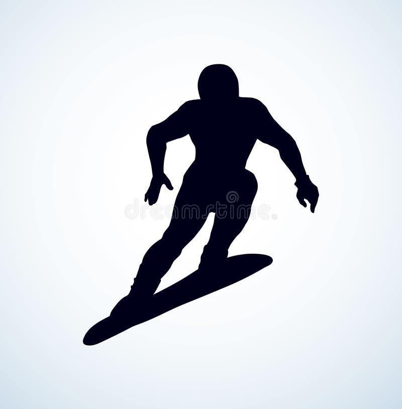 skier Desenho do vetor ilustração do vetor
