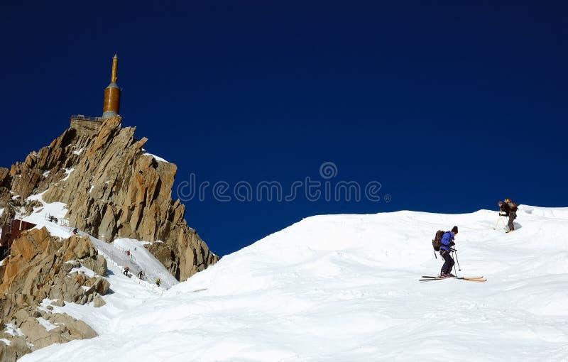 skier för aiguilledu midi arkivfoto