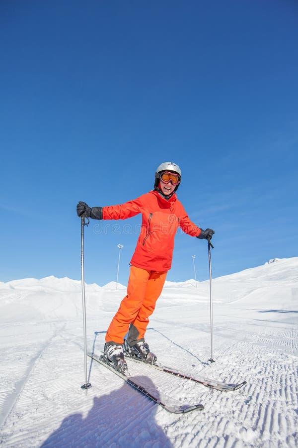Free Skier Is Posing At Camera At Gudauri Resort In High Mountaing Of Stock Photography - 33963702