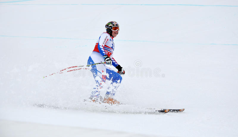 Skier Marion Rolland on track