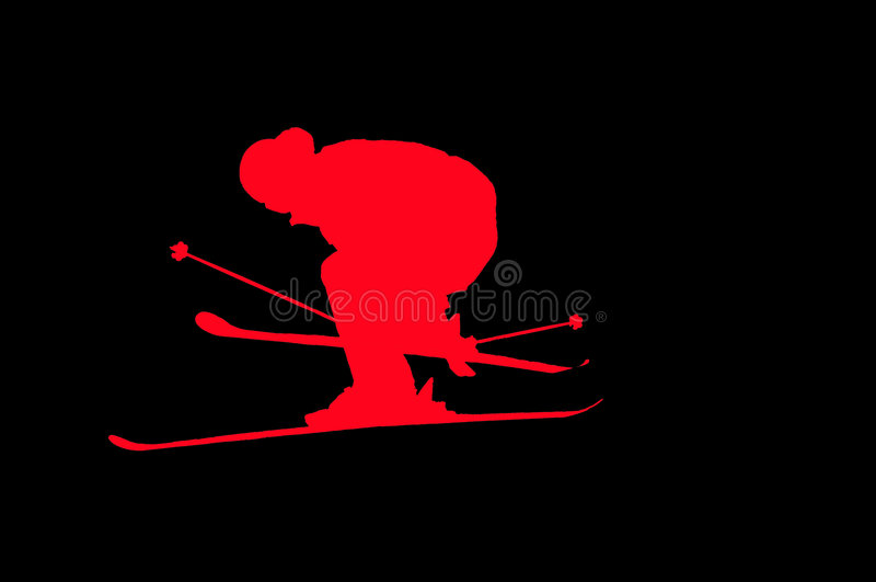 Skier performing a high jump vector illustration