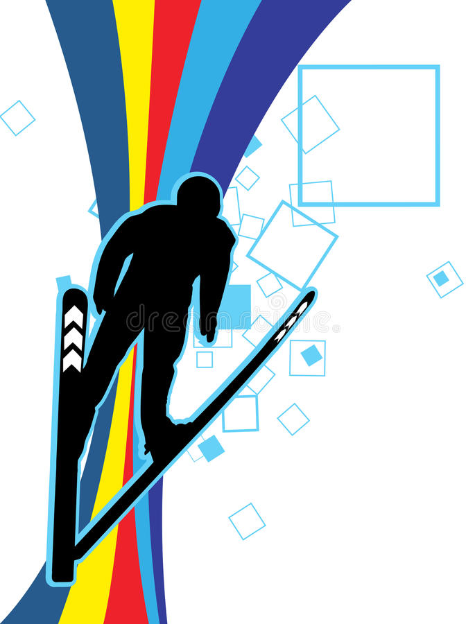 Download A Skier Player stock illustration. Image of athlete, dynamic - 11267485