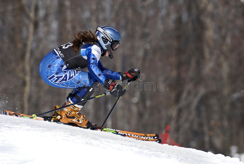 Skier at Pontiac Cup race royalty free stock image