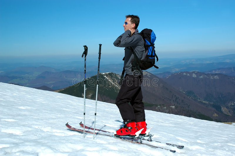 Download Skier portrait stock image. Image of course, mountain - 2300243