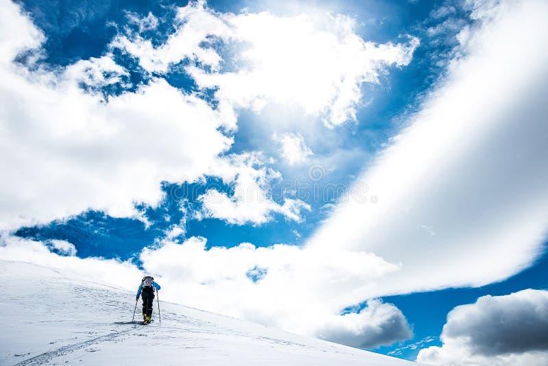 Skier. Ski touring in British Columbia, Canada stock photos