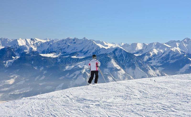 Download Skier On The Slope Ski Resort  Austria Stock Image - Image of mountain, down: 34545511