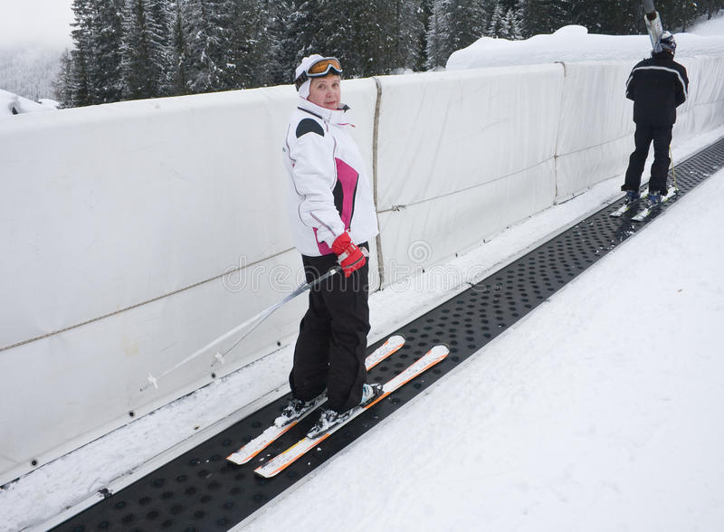 Download Skier tape ski lift stock photo. Image of rocks, campiglio - 12278284