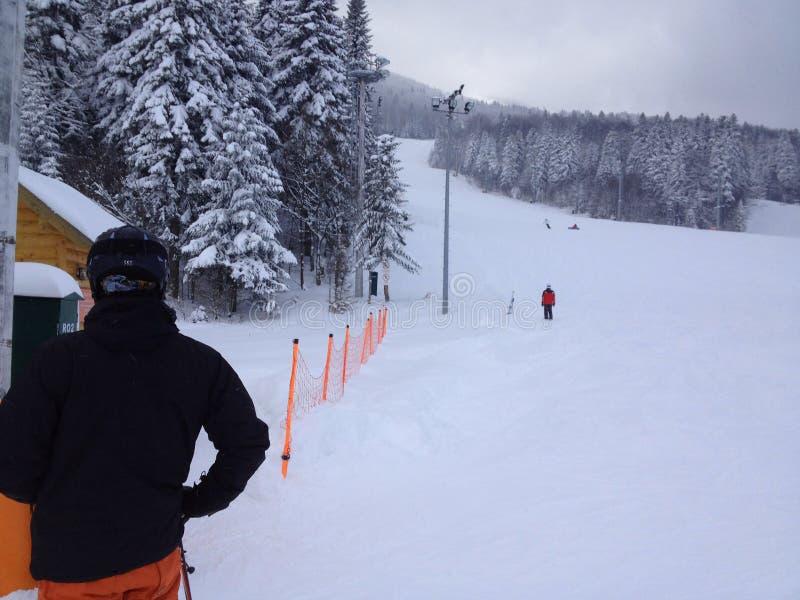 Skierholungen lizenzfreies stockfoto