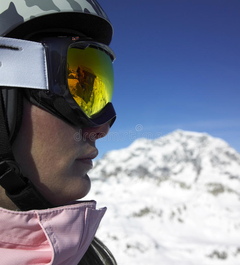 skierkvinna arkivfoton