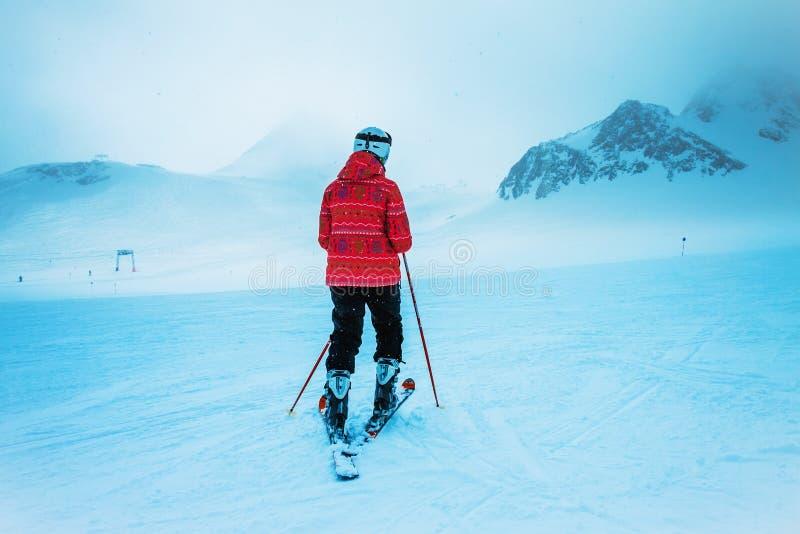Skierl, sport d'hiver extrême photos libres de droits