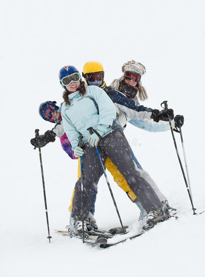 Skiers stock photos