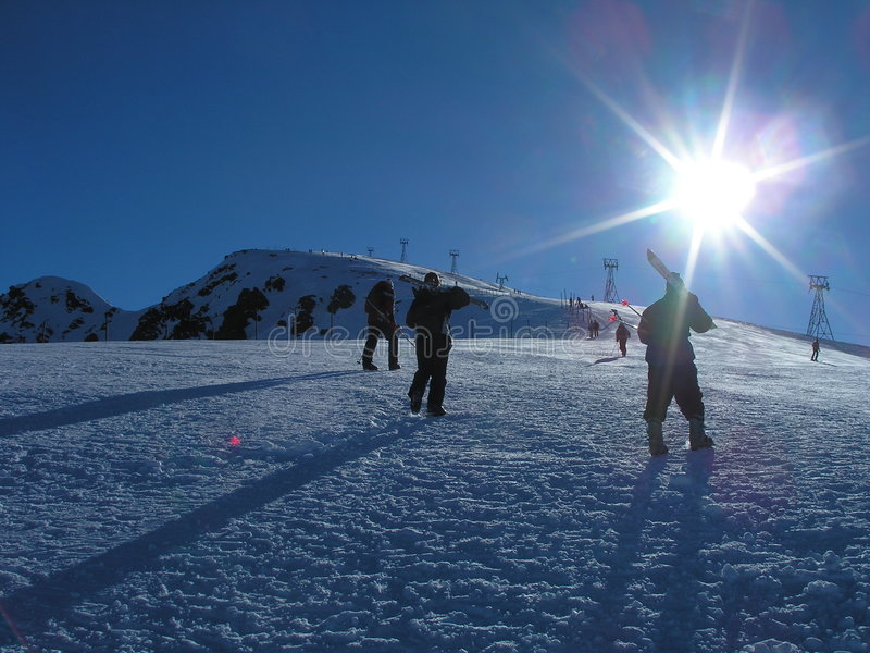 skiers arkivbild
