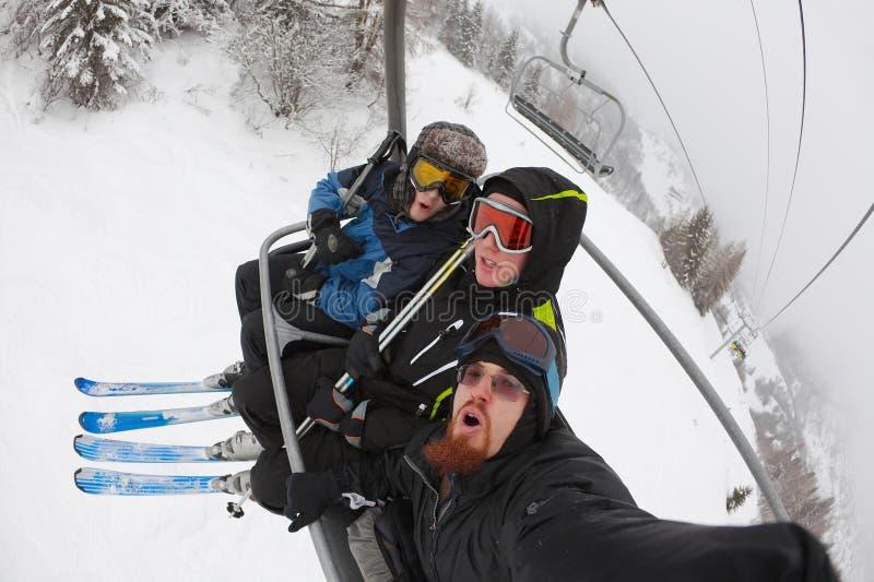 skiers stockbild