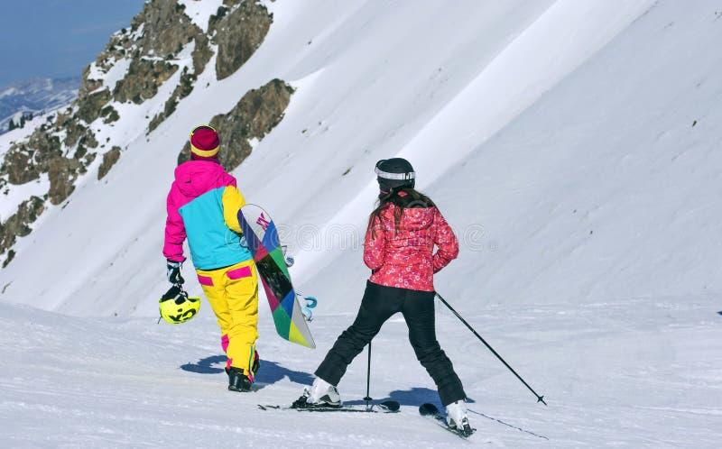 skiers fotos de stock royalty free