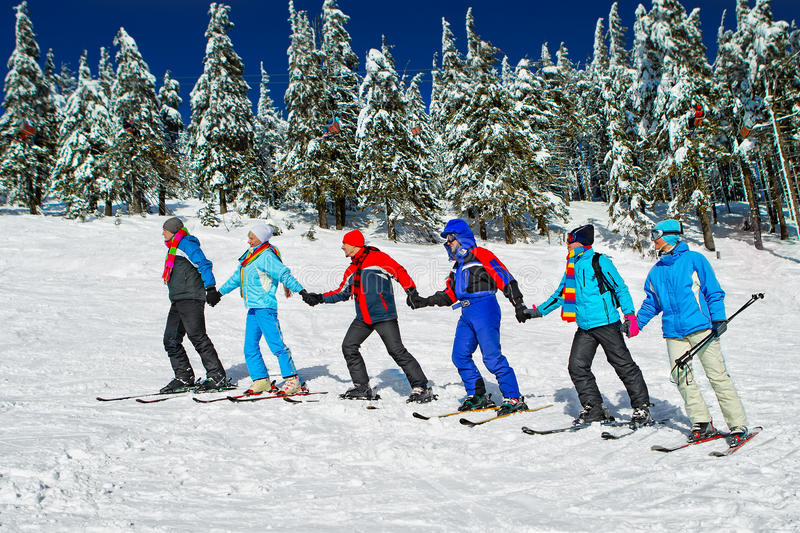 Download Skiers come upstairs stock image. Image of cold, mountain - 34167565