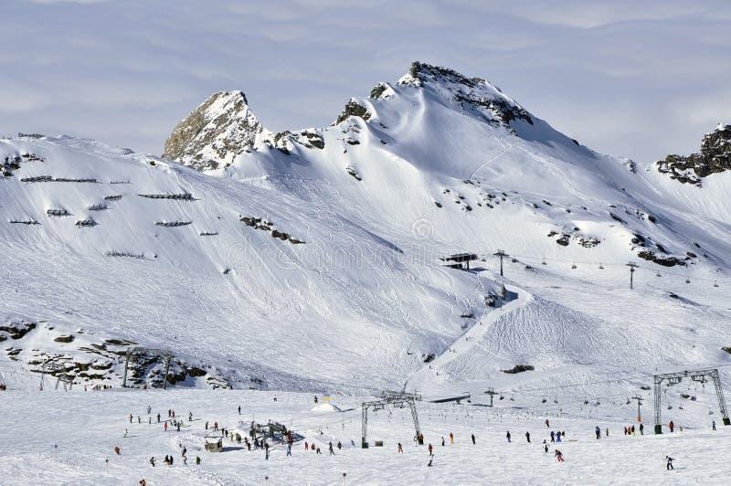 Download Skiers In Kitzsteinhorn Ski Resort, Austrian Alps Stock Image - Image: 23836643