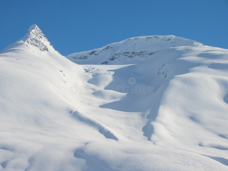 Skiers paradise royalty free stock photo
