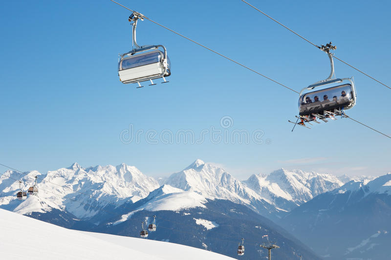 Download Skiers On Their Way To The Summit Royalty Free Stock Images - Image: 28487479