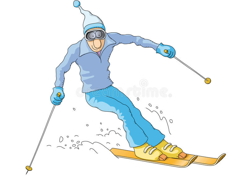 Skieur illustration de vecteur
