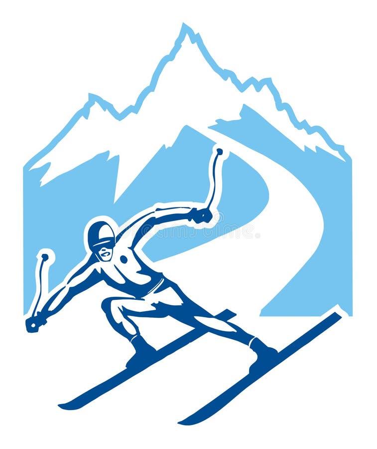 skieur illustration stock