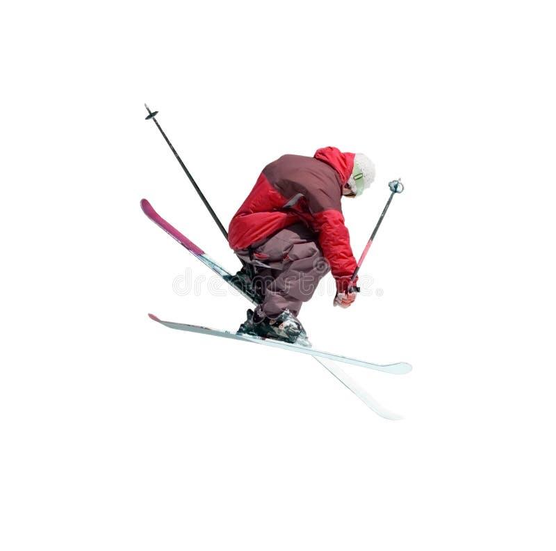 Skieur branchant de style libre photographie stock