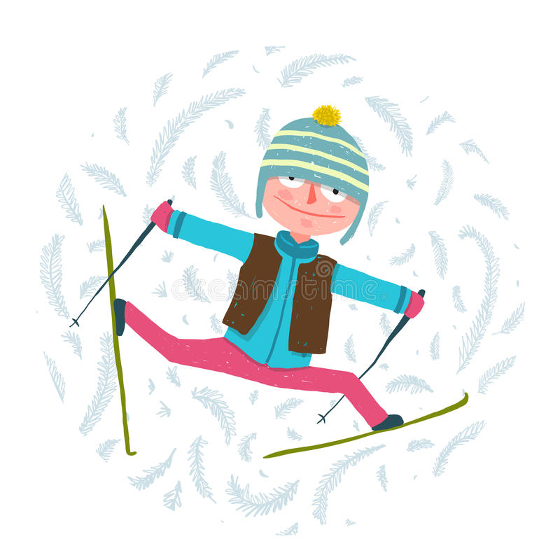 image drole skieur