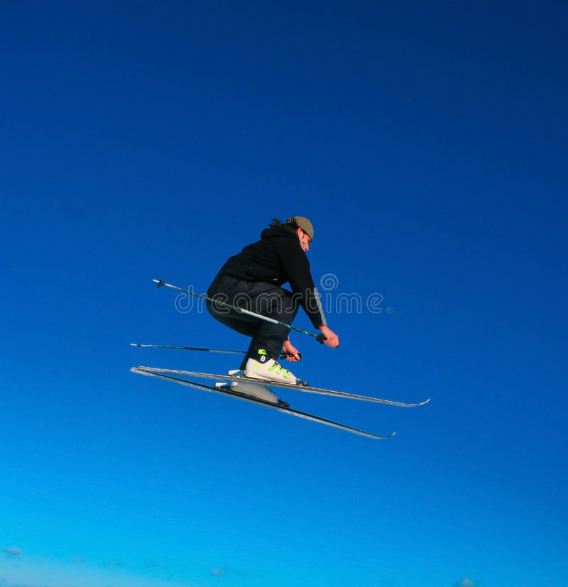 Skieur d'Arealist image stock