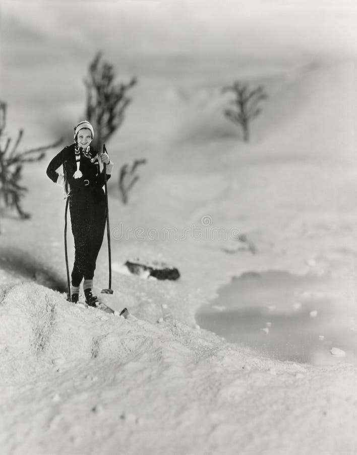 Skieur de Backcountry photo libre de droits