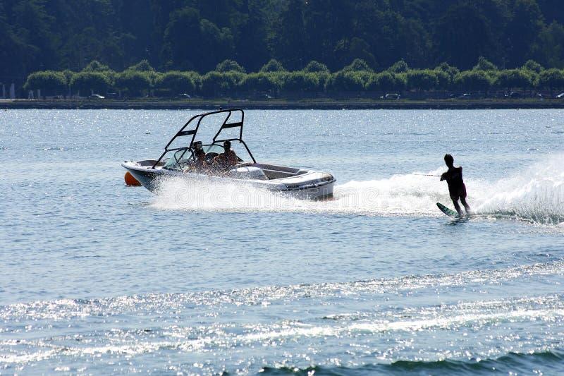 Skieur de l'eau photos libres de droits