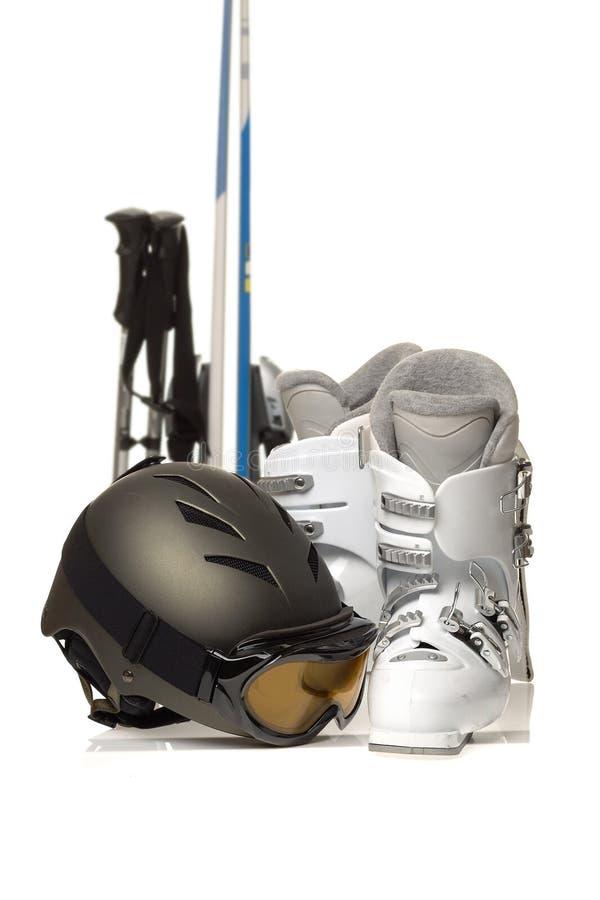 Skifahrengang stockbilder