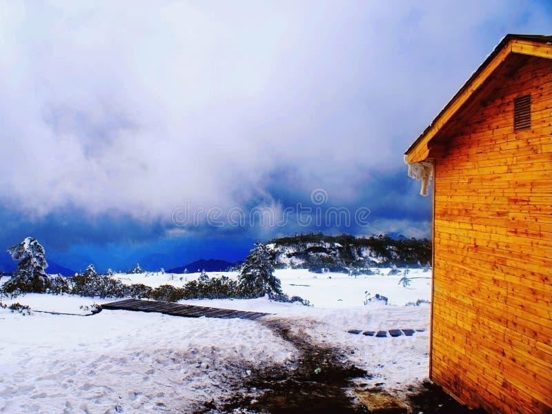 Skifahrenrücksortierung stockfotografie