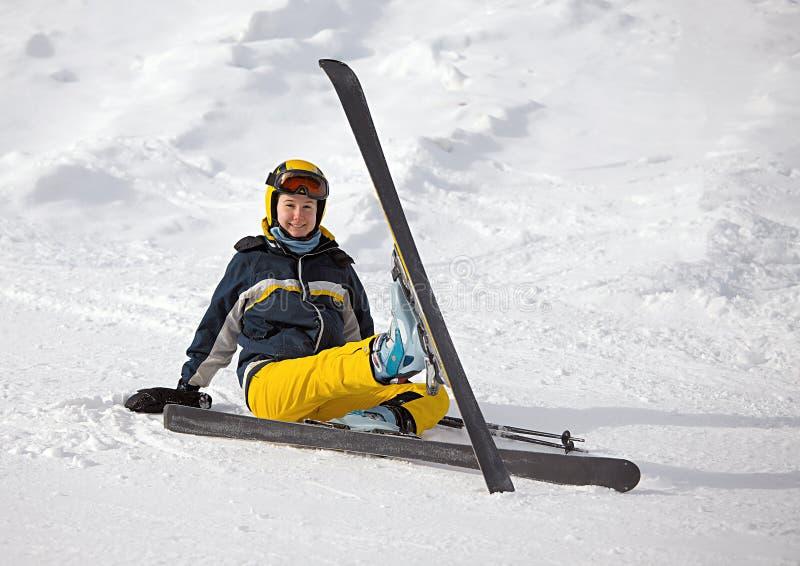 Skifahrer lizenzfreie stockfotografie