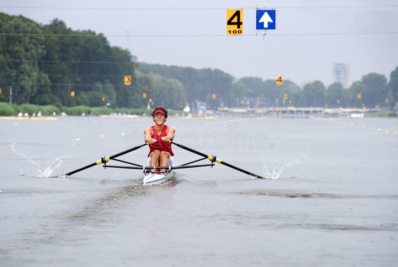 skiff rowing стоковые изображения