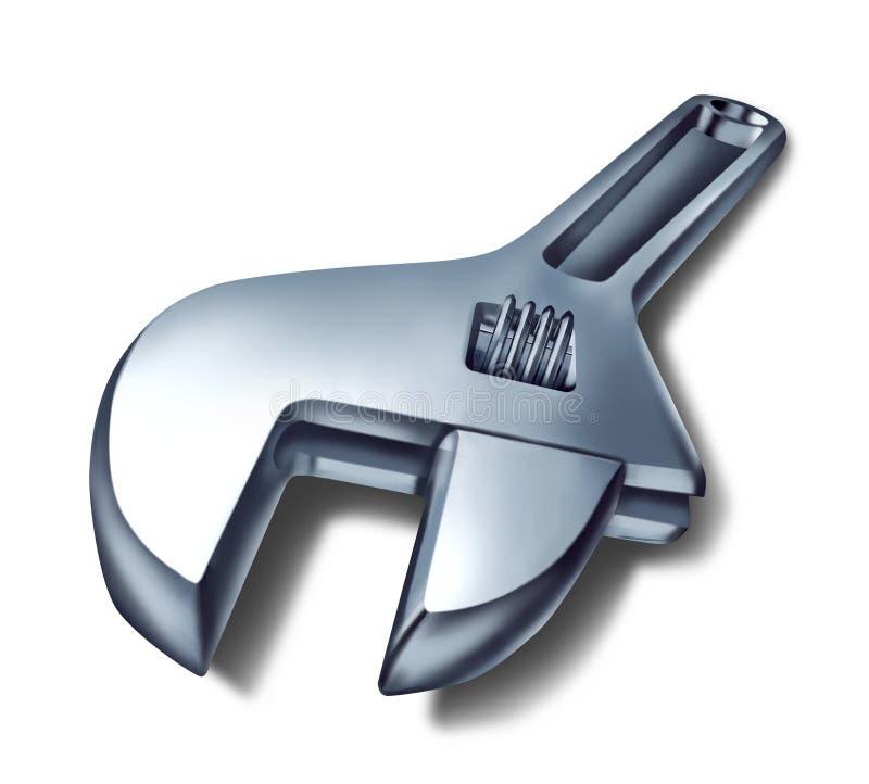skiftnyckel för fixreparationshjälpmedel royaltyfri illustrationer