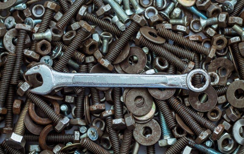 Skiftnyckelhjälpmedelutrustning royaltyfri foto
