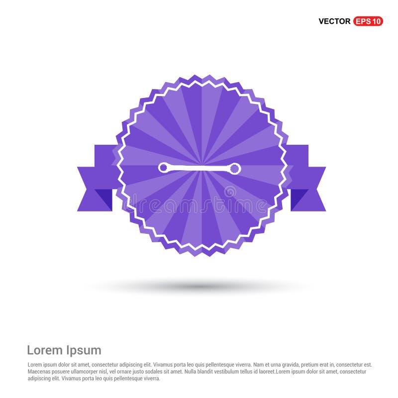 skiftnyckelsymbol - purpurfärgat bandbaner stock illustrationer