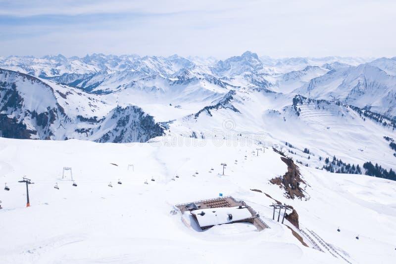 Skigebiet Diedamskopf stockbilder