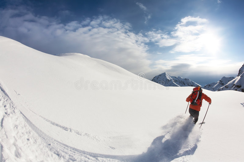 Download Skiing stock photo. Image of landscape, cold, alps, back - 7577502