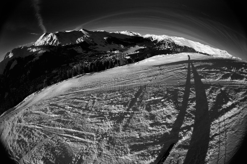 Download Skiing action 5 stock photo. Image of face, altitude, duotone - 472750