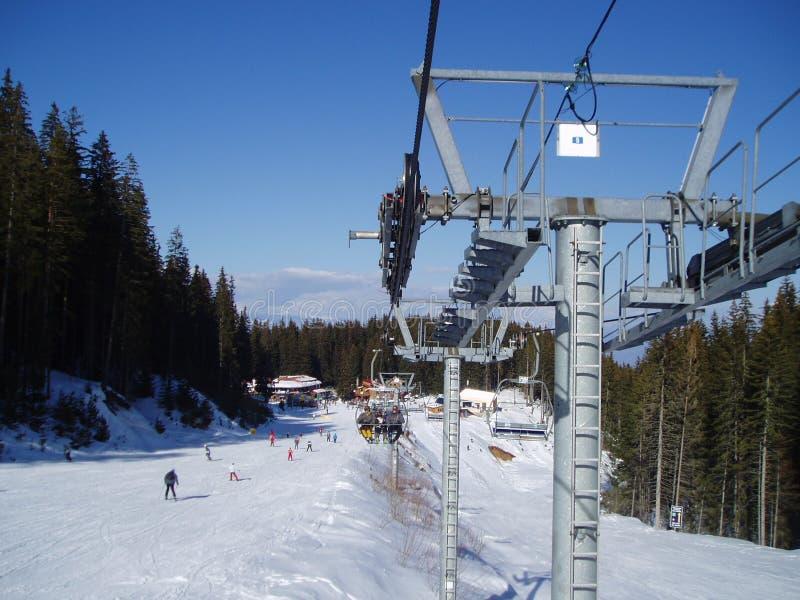 Skiing in Bansko royalty free stock photos