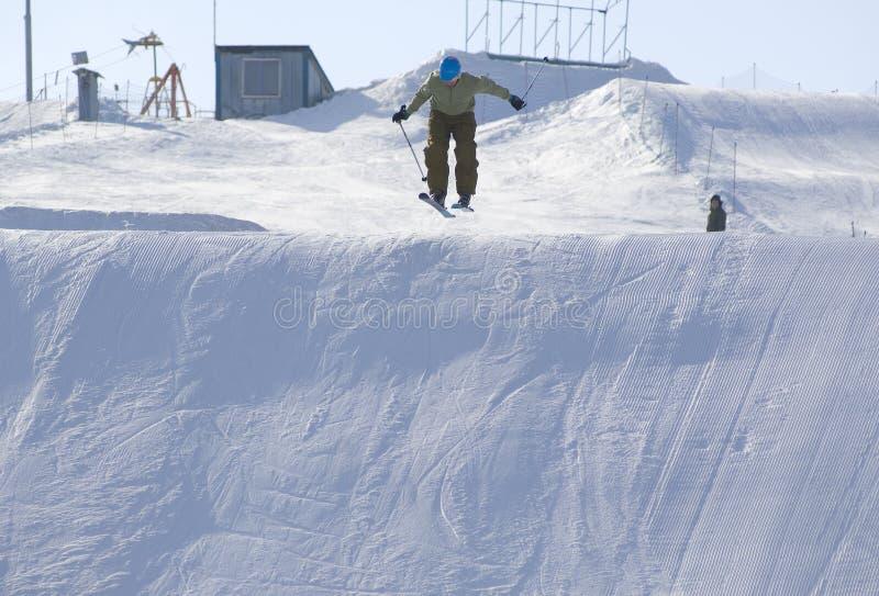 Skiing On Big Slalom Trace Editorial Photography
